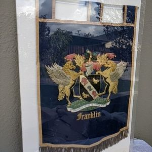 """Vintage Incredible 38"""" X 26 Luxury Franklin Coat Of Arm for Sale in Upland, CA"""