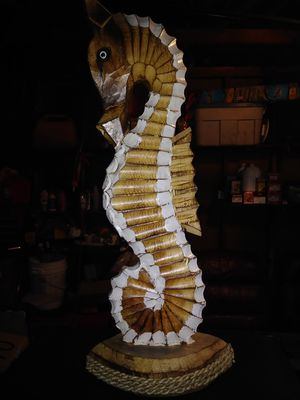 """19.5"""" Tall Wooden Hand Carved Seahorse for Sale in Burbank, CA"""