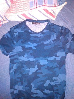Michael Kors Shirt: Blue Camo for Sale in Dickinson, TX