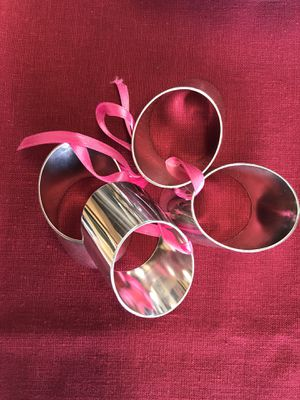 Napkin rings, silver plated for Sale in Redlands, CA