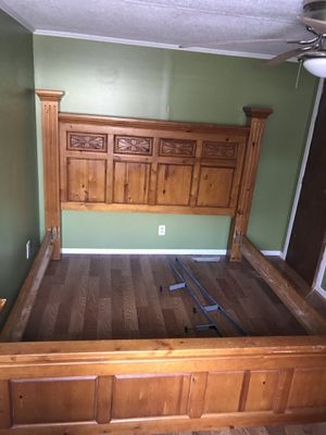 Wood Bed Frame (King size) for Sale in Greenville, SC