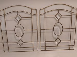 2 Leaded Glass Panels Came Glasswork for Sale in Bolingbrook, IL