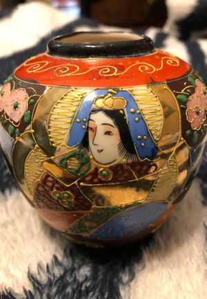 Antique Hand Painted Small Satsuma Style Vase for Sale in Bristol, PA