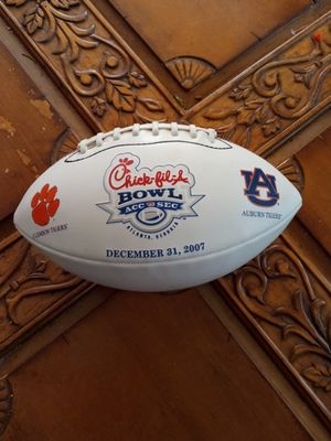 Clemson vs Aburn chick-fil-a bowl football for Sale in Anderson, SC