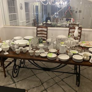 Dinnerware Assorted Plates Cups Crystal More for Sale in Virginia Beach, VA