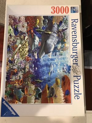 Ravensburger Underwater Paradise 3000 piece Jigsaw Puzzle for Sale in Rockville, MD