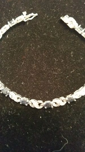 7.2 carat Sapphire & Diamond bracelet. for Sale in Denver, CO