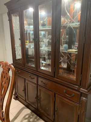 Dinner table with 4 chairs and china $450 for Sale in Fort Lauderdale, FL