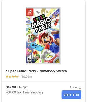 Super Mario Party Nintendo Switch for Sale in Phoenix, AZ
