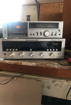 2220b Vintage Marantz receiver with Cassette deck and recently reworked speaker.LOUD and CLEAR for Sale in Lilburn, GA