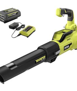 RYOBI 125 MPH 550 CFM 40-Volt Lithium-Ion Brushless Cordless Jet Fan Leaf Blower - 4.0 Ah Battery and Charger Included- NEW IN BOX for Sale in San Antonio,  TX