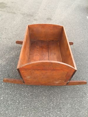 Antique Wood Rocking Baby Childs Doll Cradle for Sale in Montclair, CA