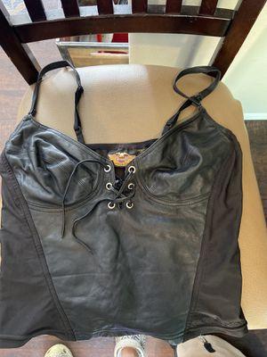 Harley Davidson leather tank top for Sale in Arlington, WA
