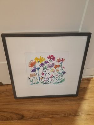 Framed square floral painting for Sale in MIDDLE CITY EAST, PA