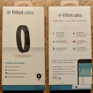 Fitbit Alta Fitness Tracker, Black, Small (5.5 - 6.7 Inch) Brand New Sealed for Sale in Prospect Heights, IL