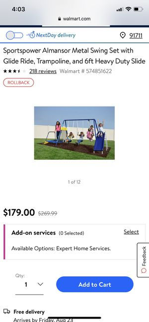Almansor swing set for Sale in Chino, CA