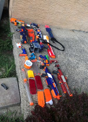 Some Rare and vintage some modified and new nerf guns for Sale in Gahanna, OH