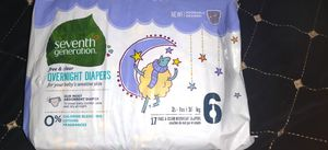 Diapers size 6 overnight diapers super comfortable for Sale in Peoria, AZ