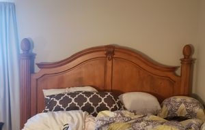 King Size Large 4 post bed /Dresser and Chest for Sale in Chesapeake, VA