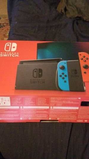 Nintendo switch with 512gb memory card & super smash brothers for Sale in Phoenix, AZ