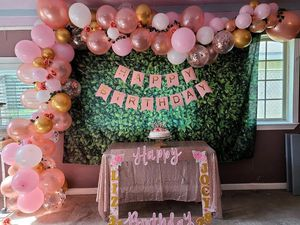 Rosegold balloons for sale as is!! for Sale in Houston, TX