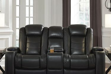 🍵Feel the comfort👍Party Time Midnight LED Power Reclining Loveseat with Adjustable Headrest by Ashley for Sale in Philadelphia,  PA