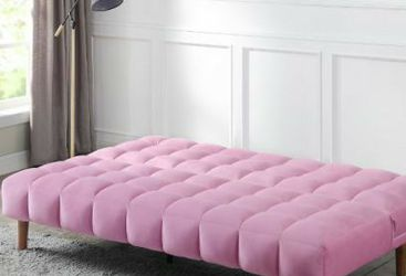 Online Price ‼️🎉🎊. Pink VELVET Adjustable Sofa (Futon/Sofa Bed) • Delivery • Assembly • FREE 🔥 Financing ‼️Same as cash for Sale in Las Vegas,  NV