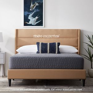 NEW, MODERN DESIGN,LINEN LIKE FABRIC, KING SIZE BED FRAME. for Sale in Santa Ana, CA