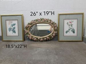 Mirror and 2 wall decorations for $45 for Sale in Houston, TX