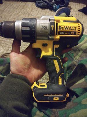 Dewalt brushless motor Hammer drill 20 v with 60 v max 20v battery and charger and bag for Sale in Torrance, CA