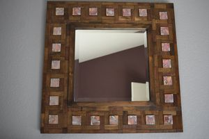 Rustic All Wood Decorative Wall Mirror (24in x 24in) for Sale in Chandler, AZ