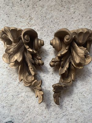 2 gold wall sconce 11inch shelves for Sale in Parker, CO