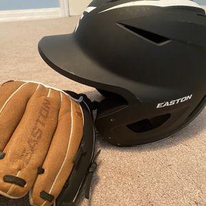 Junior Baseball Helmet + Glove for Sale in Lake Worth, FL