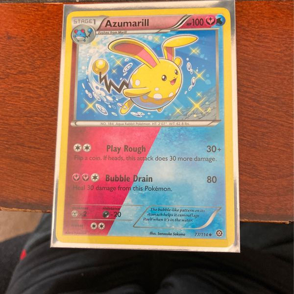 Shiny Azumarill Duel Typing Pokémon Card