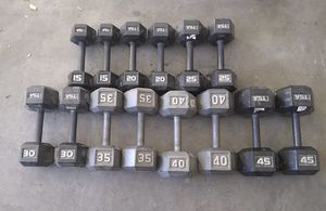 "(""HGS""). Full Dumbbell weight set. 15 pound - 45... $650 OBO for Sale in Peoria, AZ"