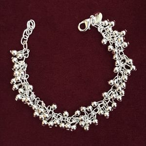 Sterling silver plated 925 stamped beads charm bracelet for Sale in Silver Spring, MD