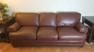 Brown Leather Sofa for Sale in San Ramon, CA