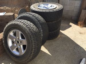 Jeep wheels/tires for Sale in Nuevo, CA