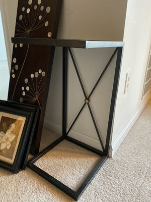 Coffee table with black glass on top for Sale in Fairfax, VA