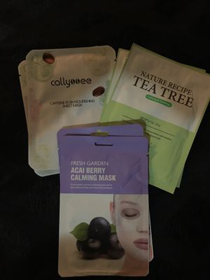 6pk Of Assorted Sheet Face Masks for Sale in Seattle, WA