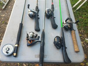 Fishing combos, poles and tackle boxes and misc fishing stuff for Sale in Austin, TX