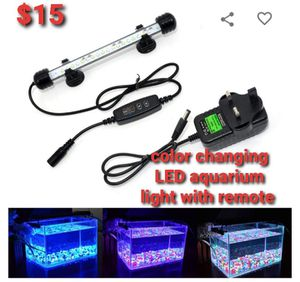 Color changing LED aquarium light with remote for Sale in Grover, NC