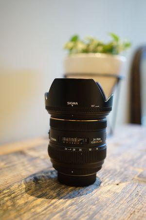Sigmas 24-70mm f/2.8 IF EX DG HSM AF Standard Zoom Lens for Nikon for Sale in San Francisco, CA