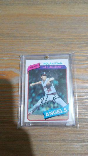 Baseball card- 1980 nolan ryan for Sale in Roseburg, OR