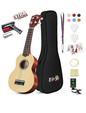Soprano Ukulele Beginner Pack-21 Inch w/Rainbow String Gig Bag Fast Learn Songbook Digital Tuner All in One Kit for Sale in Irvine, CA