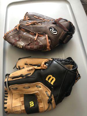 Girls Softball gloves size 12 for Sale in Glendale, AZ