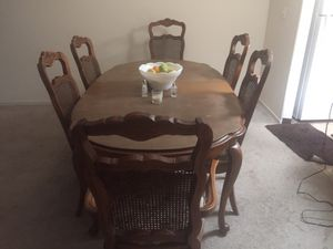 Dining table with 8 chairs for Sale in Selma, CA