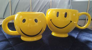 Two smiley faces mugs for Sale in Hermon, ME