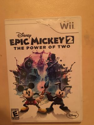 Nintendo Wii disney epic Mickey 2 for Sale in Visalia, CA
