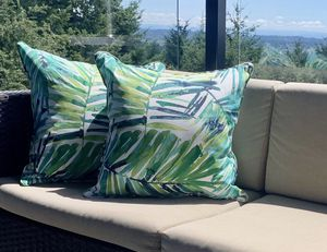 New Palm style outdoor patio throw pillow for Sale in Hillsboro, OR